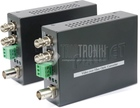 Video over Fiber Media Converter Kit, up to 2km, ST, MM, Set