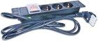 10'' 1HE Steckdosenleiste mit 3x Schuko- Buchsen, Schalter, 10A