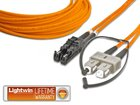 High Quality Duplex LWL Patchkabel, MM OM1, E2000 - SC, 10.0 Meter