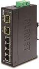 IP30 Slim 4-Port Industrial Ethernet + 2Port 100Base-FX SFP