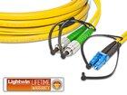 High Quality Flat-Duplex LWL Patchkabel, SM, FC/APC - LC, 3.0 Meter
