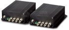 4-Channel Video over Fiber(FC) Converter, up to 20KM, Set