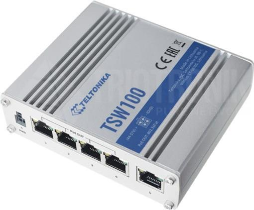 IP30 Industrie 5-Port 1Gbit PoE+ unmanaged Switch, -40°C - +75°C