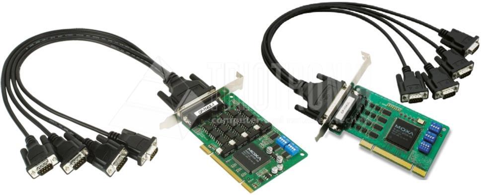 4-Port RS-232/422/485 Uni. PCI Serial Boards, Low Profile