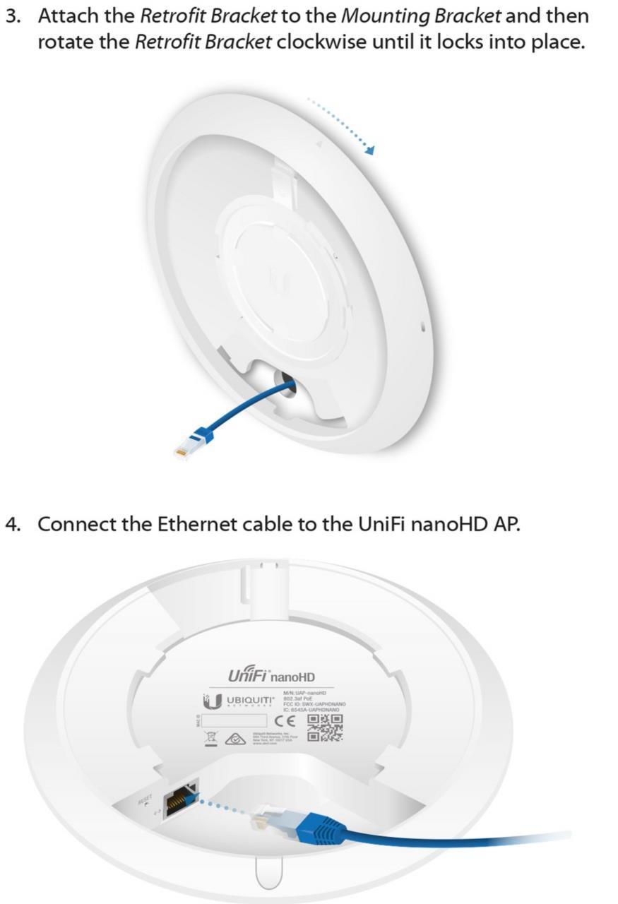 UniFi Montageadapter für Austausch von UAP-AC-PRO auf UAP-nanoHD, 3er-Pack