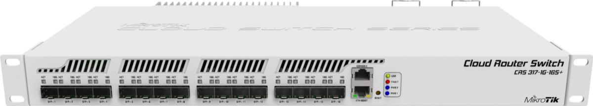 CRS317-1G-16S+RM Cloud Router Switch mit Marvell 98DX8216B0, 1x Gbit, 16x SFP+