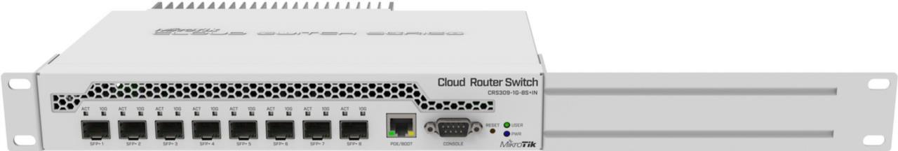 CRS309-1G-8S+IN Desktop Switch 1x Gbit, 8x SFP+ 10Gbps