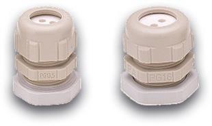 PG16 PVC Verschraubung mit Ausgang für LWL Patchkabel