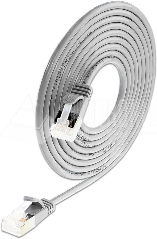 KAT6A 10 Gigabit Lightpatchkabel rund, U/FTP, Ø 3,8mm, weiss