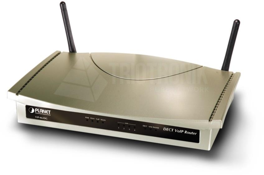 802.11g WiFi DECT/VoIP Router (SIP) - Two Voice Channel