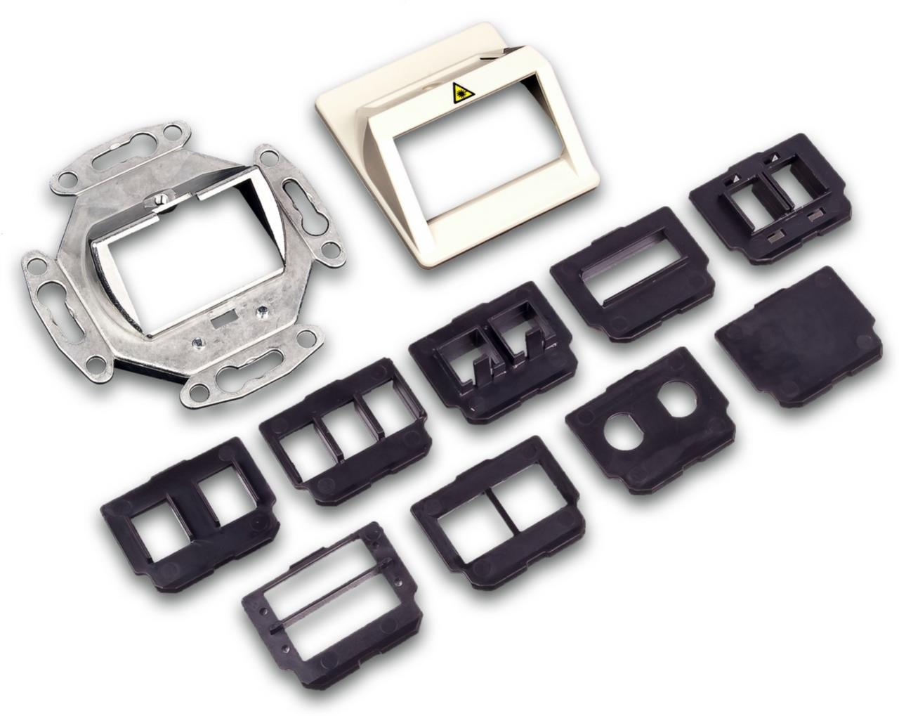 LWL Dose inkl. Adapterplatten für alle gängigen Adapter, beige