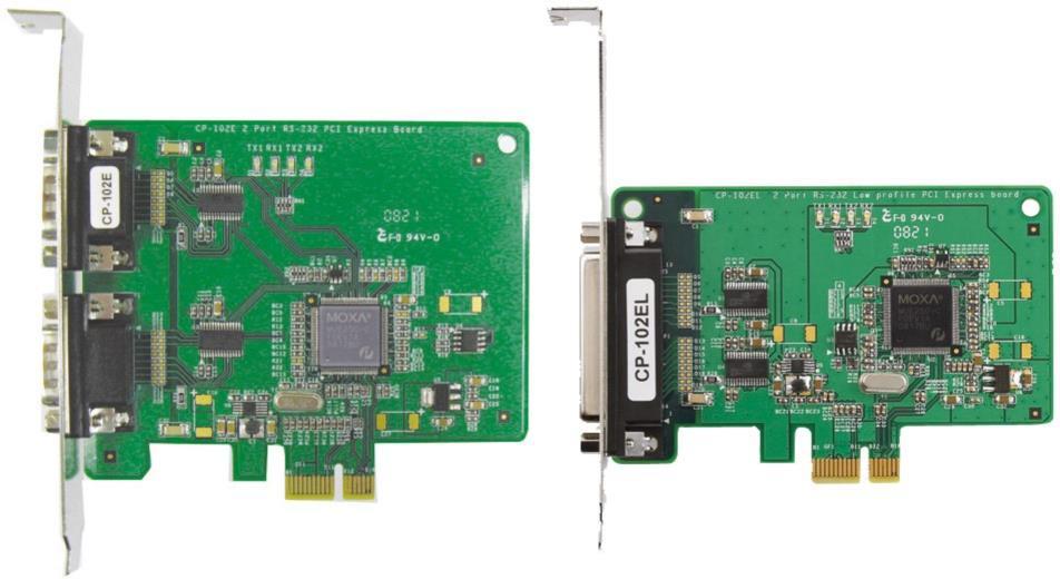 CP-102E/EL 2 Port RS-232 PCI Express Boards