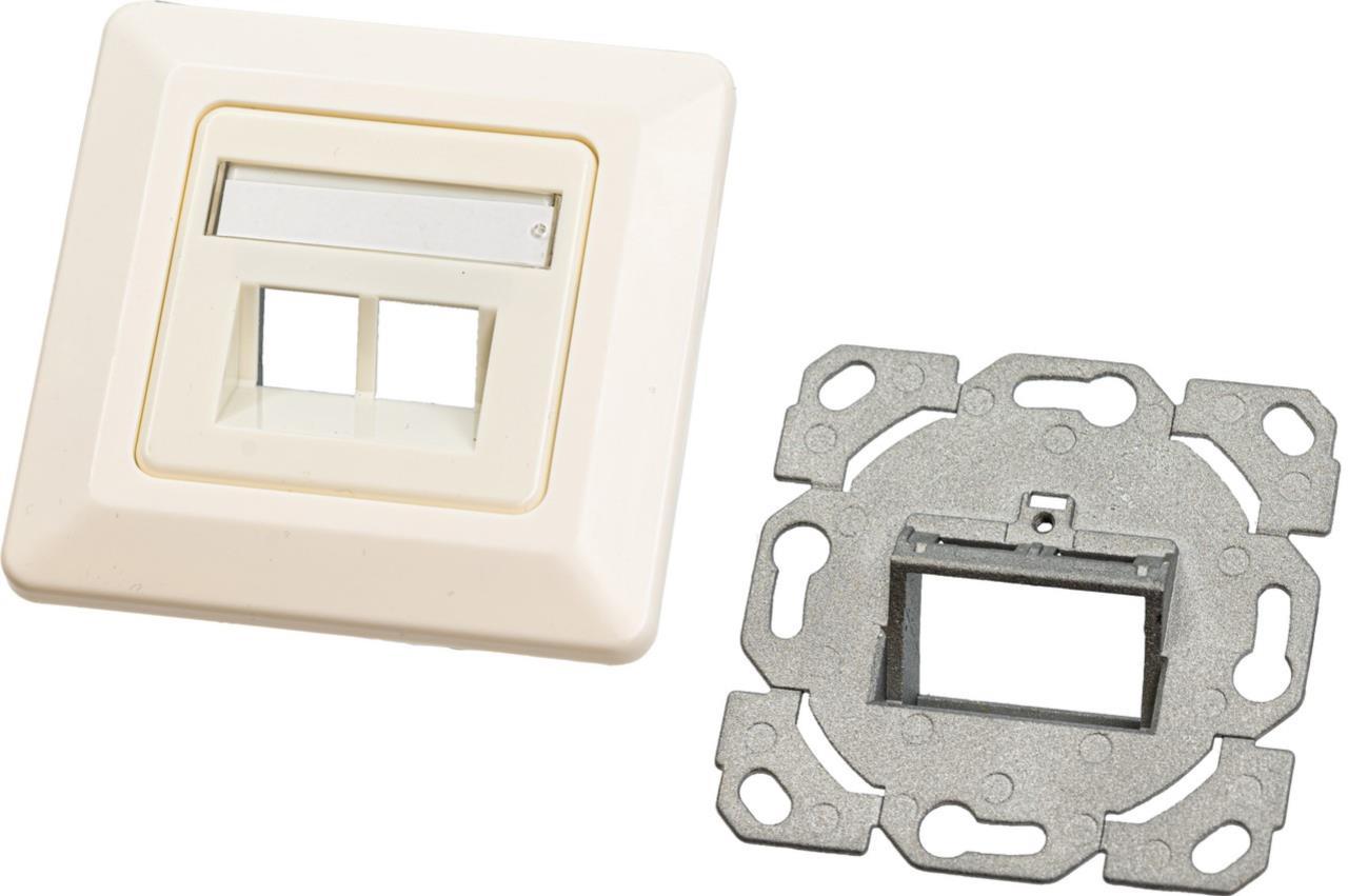Keystone Leerdose für 2 Module, Unterputz, Schalterprogramm-fähig, RAL9010