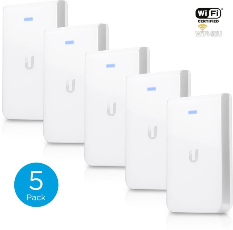 UniFI AP, 802.11ac Dual Radio Indoor Access Point, In-Wall Version, 5-Pack