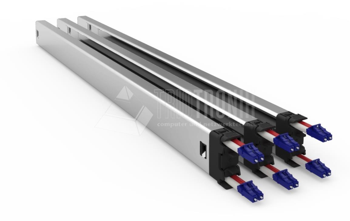 PATCHBOX®Plus+ Kassette mit HQ Duplex LWL Patchkabel, 1,7m, SM, LC - LC
