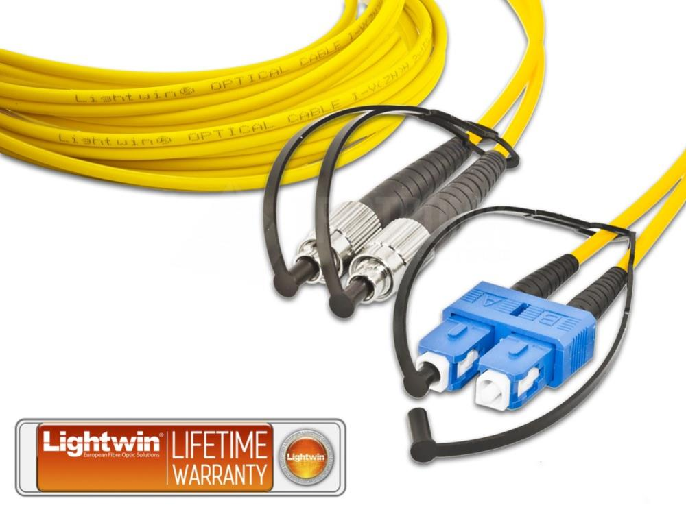 High Quality Duplex LWL Patchkabel, SM, FC - SC