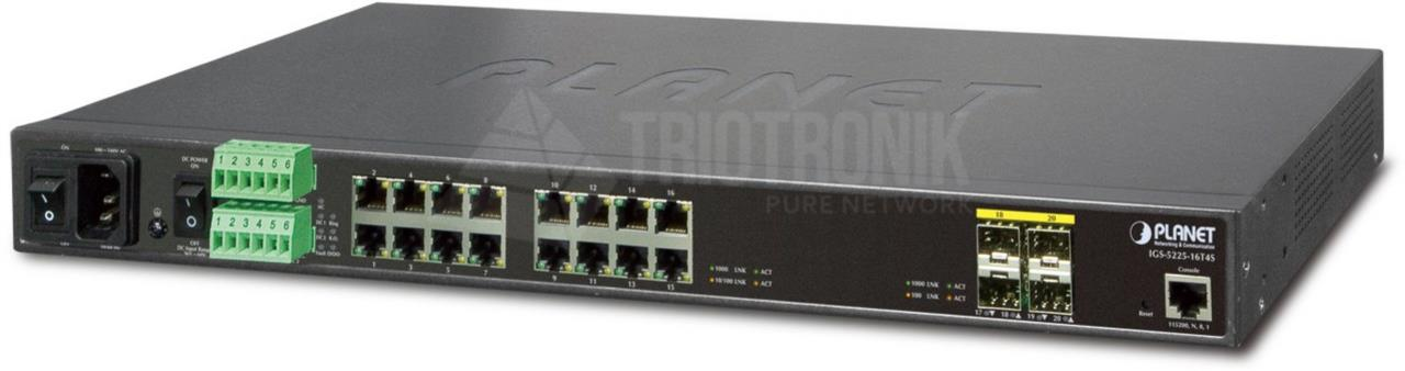 Industrial L2+ 16Port Gibt + 4Port SFP managed Switch RM able