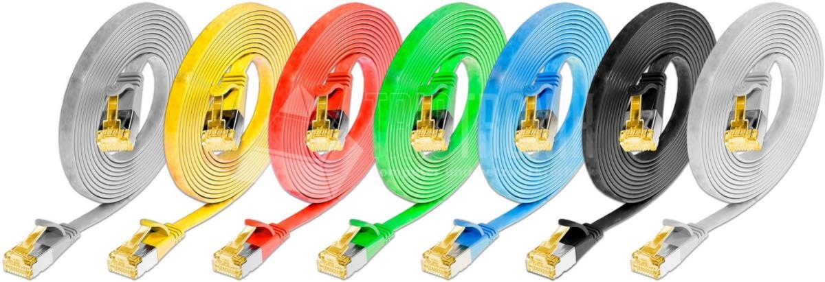 KAT6A 10 Gigabit Slimpatchkabel, U/FTP, flach, schwarz