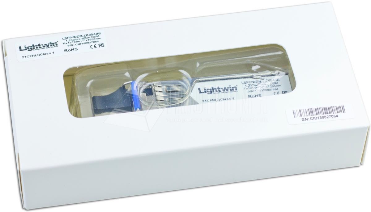 WDM SFP+ 10GBase-LR Singlemode, 60KM, Universal kompatibel